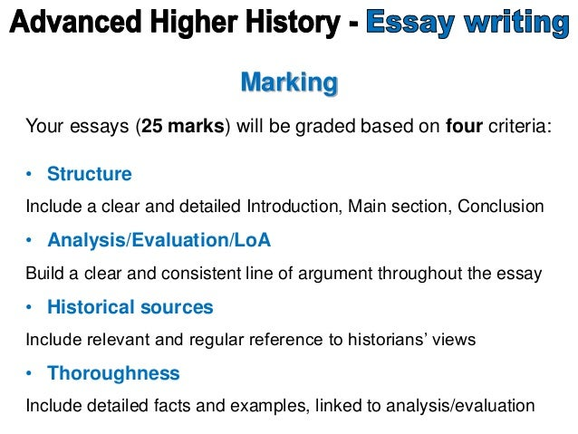 advanced higher history essay writing