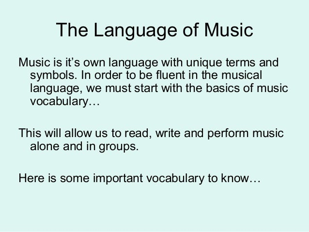 Music Terminology