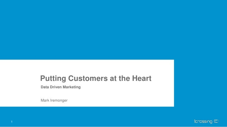 Putting Customers at the Heart    Data Driven Marketing    Mark Iremonger1