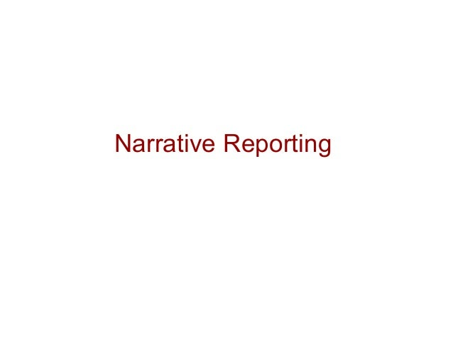 Narrative Reporting