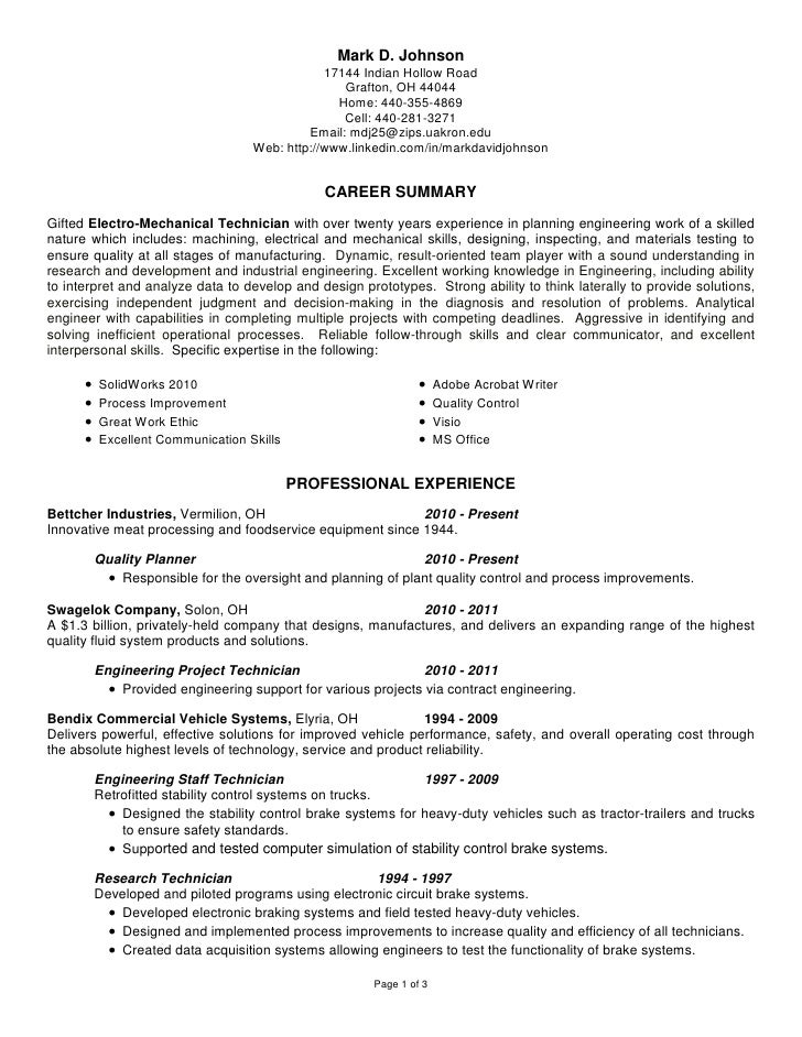 Mark Johnson Resume