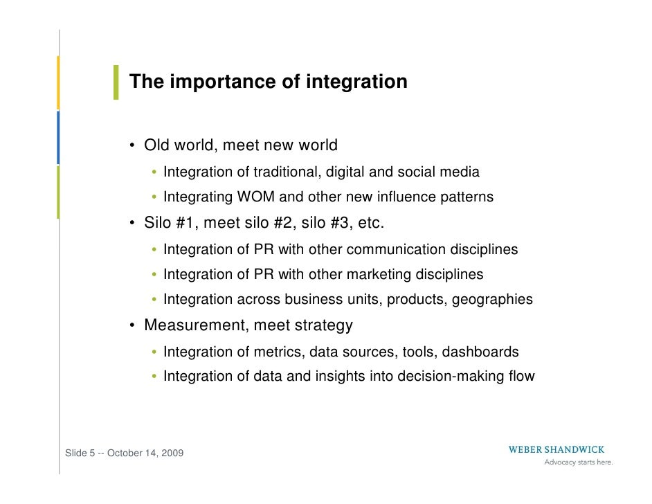 The importance of integration                 • Old world, meet new world                    • Integration of traditional,...