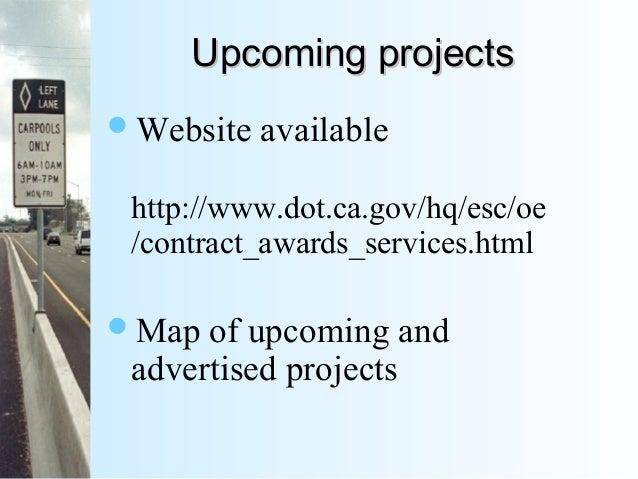 2014 Caltrans Construction Program Update by Mark Leja