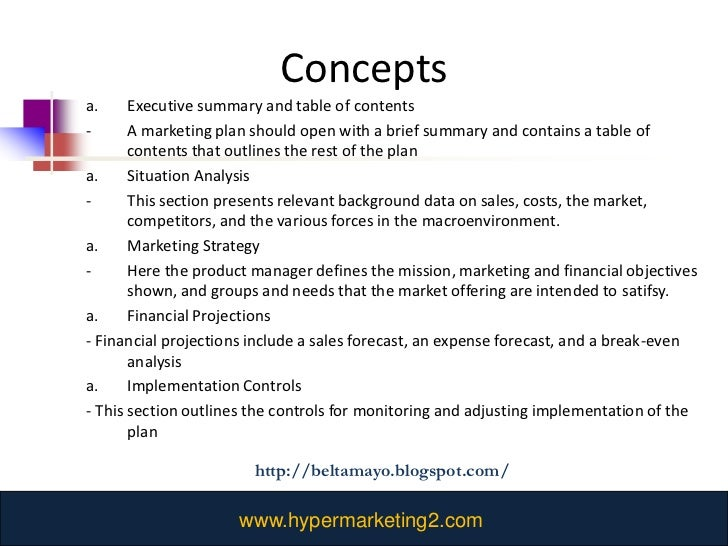Chapter 2 ten learning questions belinda tamayo - Marketing plan table of contents ...