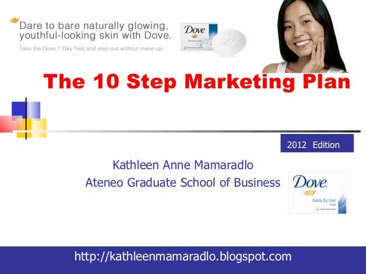 The 10 Step Marketing Plan                                        2012 Edition       Kathleen Anne Mamaradlo   Ateneo Grad...