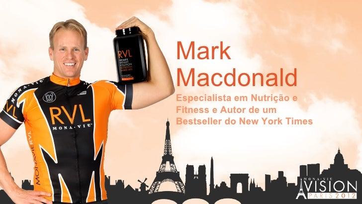 MarkMacdonaldEspecialista em Nutrição eFitness e Autor de umBestseller do New York Times