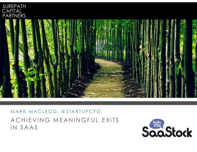 achieving meaningful exits in saas - mark macleod