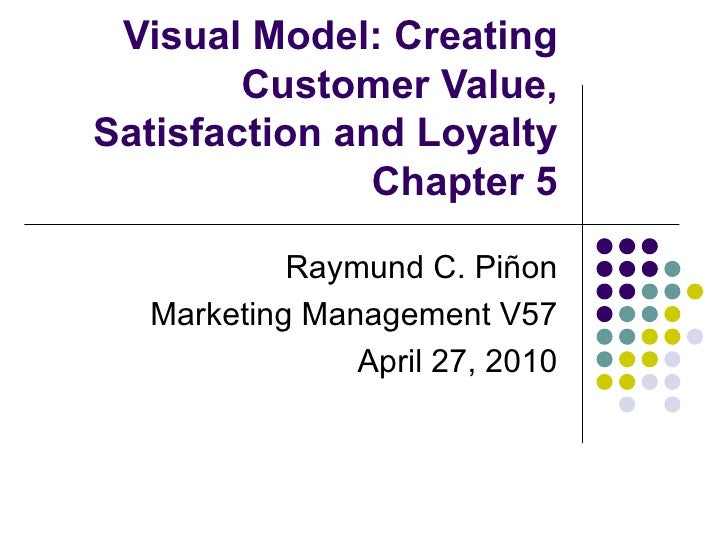 Visual Model: Creating        Customer Value,Satisfaction and Loyalty               Chapter 5           Raymund C. Piñon  ...