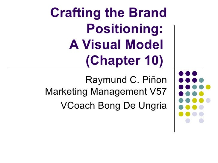 Crafting the Brand       Positioning:    A Visual Model       (Chapter 10)         Raymund C. PiñonMarketing Management V5...