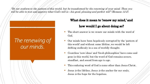 Mark of True Transformation - United Faith Church Articles Slide 3