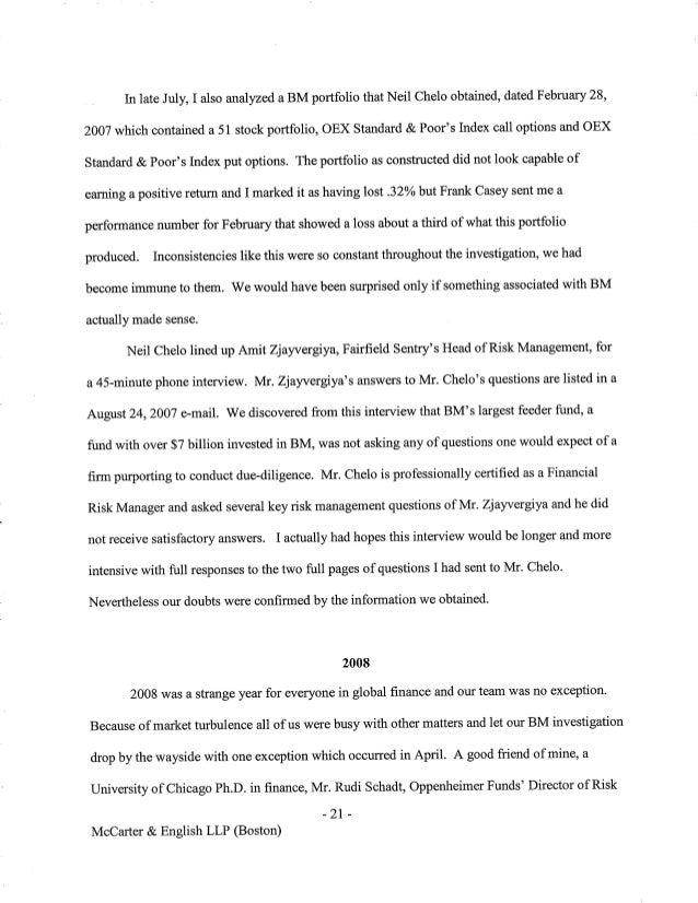 Elegant Harry Markopolos Testimony To Congress