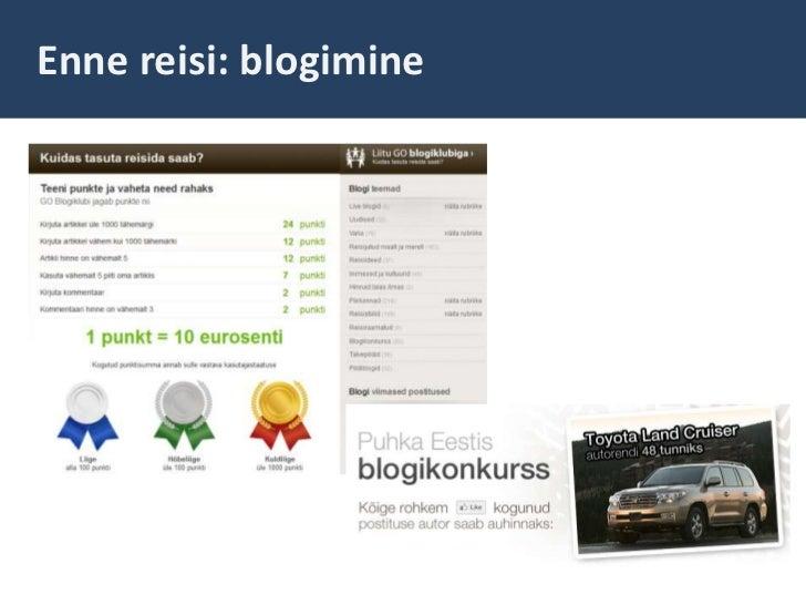 Enne reisi: blogimine<br />