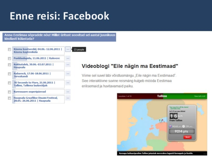 Enne reisi: Facebook<br />