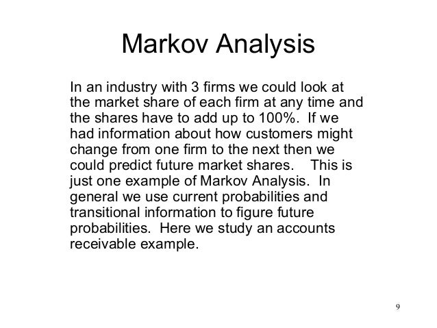 markov s analysis View markov chain research papers on academiaedu for free  the  fundamental assumption of markovian behavior---a user&ampampampamp# x27s next action  estimating instantaneous cache hit ratio using markov  chain analysis.