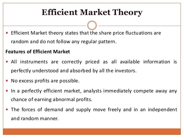 what is an efficient market essay The efficient market hypothesis is predicated upon a few flawed assumptions: 1) market participants are rational the reality is many money managers make decisions based on irrational factors just like people in other fields some of the biggest include: laziness, emotion, and (probably the biggest) career-preservation.