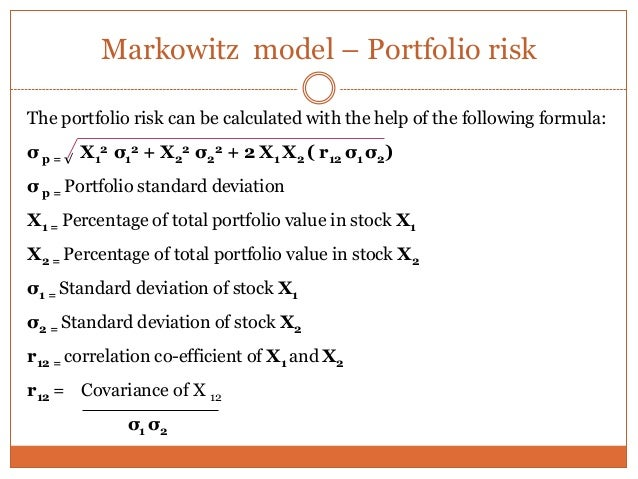 markowitz portfolio optimization essay Modern portfolio theory (mpt) is a theory on how risk-averse investors can  construct portfolios to optimize or maximize expected return based on a given  level of.