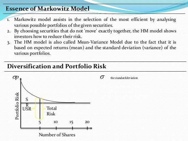 modern portfolio theory Abstract this article summarizes some main results in modern portfolio theory first, the markowitz approach is presented then the capital asset pricing model is derived and its empirical testability is discussed afterwards neumann- morgenstern utility theory is applied to the portfolio problem finally, it is shown how.