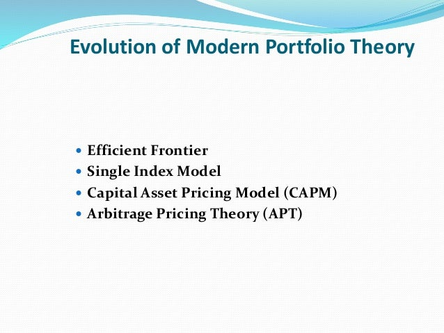 notes modern portfolio theory and distance Modern portfolio theory and investment analysis eighth edition international student version edwin j elton leonard n stern school of business.