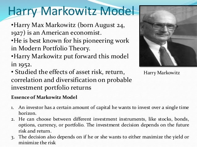 modern portfolio theory and the fundamental analysis approach Warren buffett v modern finance theory that the principles of fundamental business analysis, first formulated tenets is modern portfolio theory.