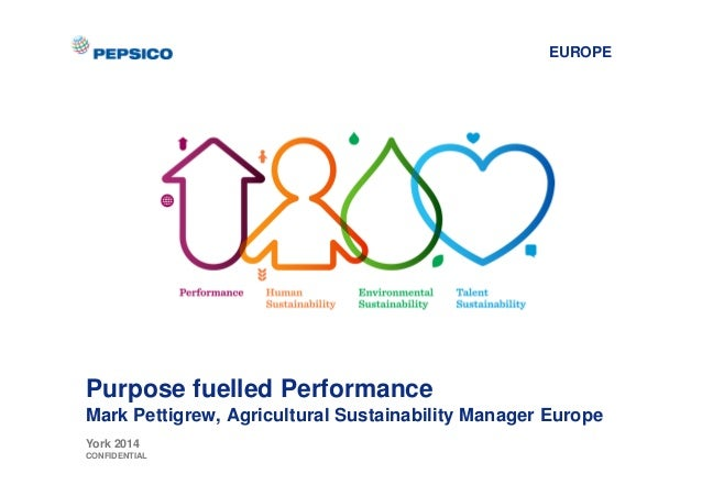 EUROPE  Purpose fuelled Performance  Mark Pettigrew, Agricultural Sustainability Manager Europe  York 2014  CONFIDENTIAL