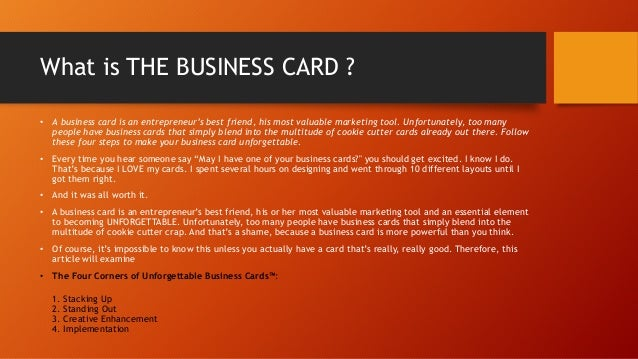 How to make your business cards unforgettable how to make your business cards unforgettable by scott ginsberg 2 what is the colourmoves
