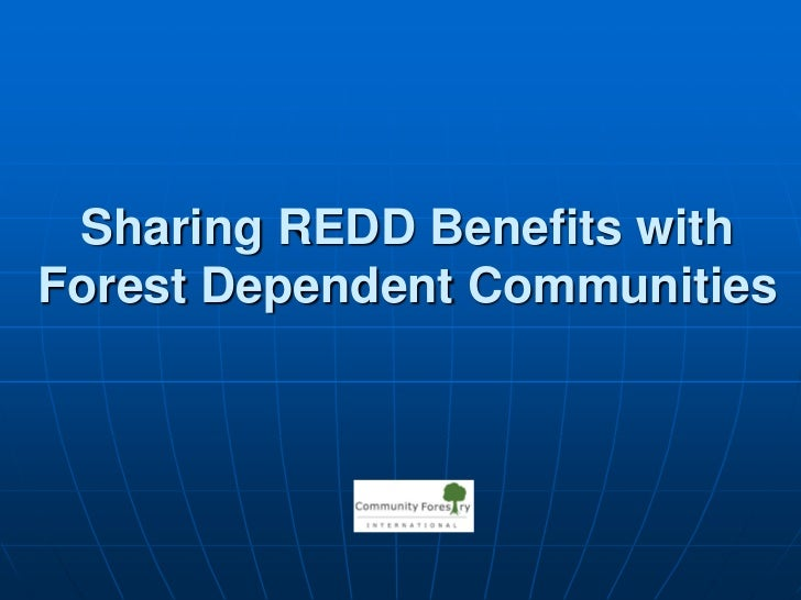 Sharing REDD Benefits with Forest Dependent Communities