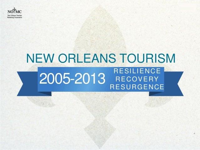 2005-2013RESILIENCERECOVERYRESURGENCENEW ORLEANS TOURISM