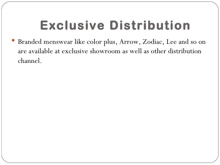 exclusive distribution Intensive selective and exclusive market exposure Custom paper ...