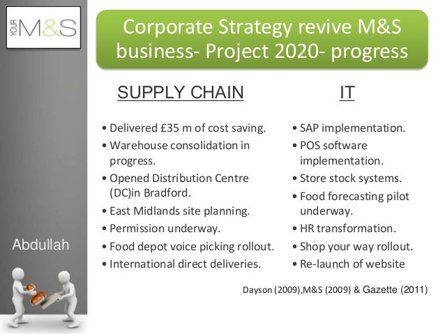 an analysis of marks and spencers This report presents the step by step strategic analysis and the strategic position of marks & spencer, one of the leading retailers of uk and industry leader in women wear and lingerie segments the report starts by presenting a brief background about the company and its current business position.