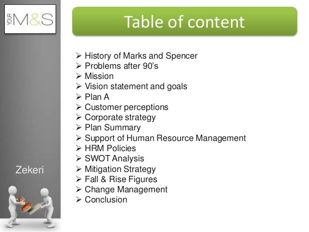 Unit 4 Strategic Management Assignment Marks and Spencer