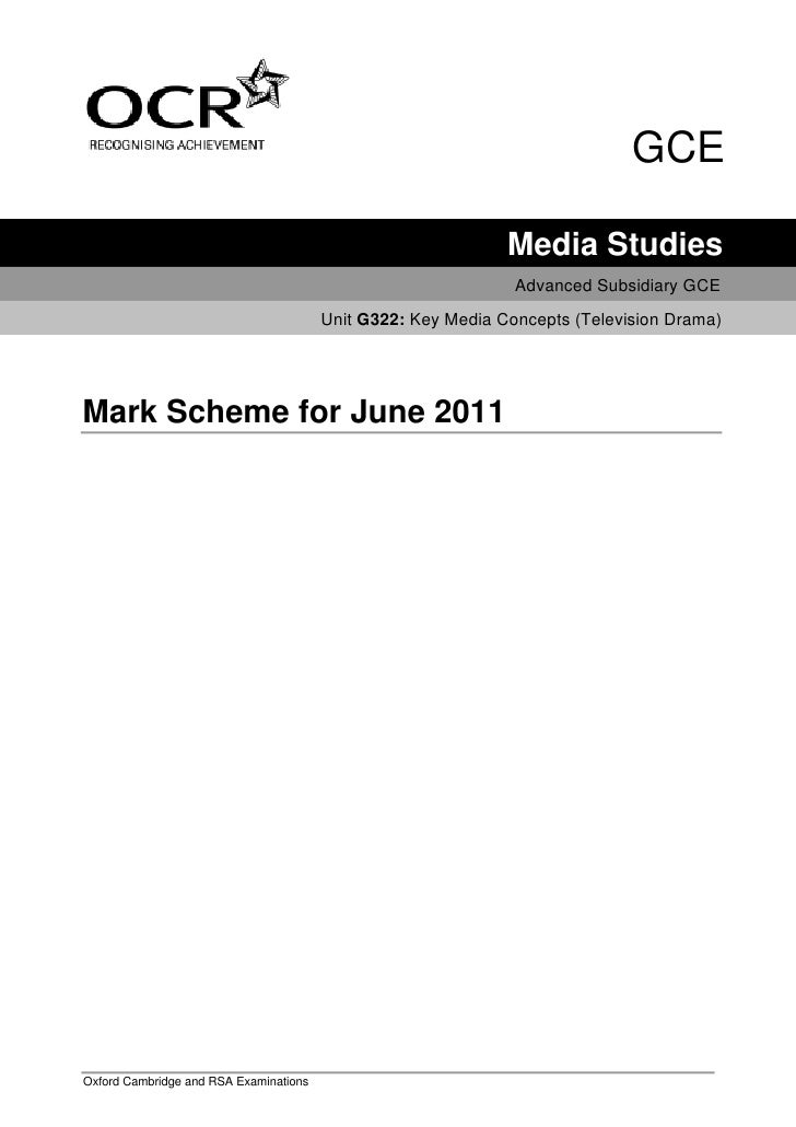 GCE                                                              Media Studies                                            ...