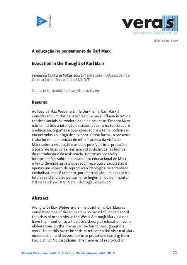 ISSN 2236-5729 revista acadêmica de Educação do ISE Vera Cruz 25Revista Veras, São Paulo, v. 4, n. 1, p. 25-36, janeiro/ju...
