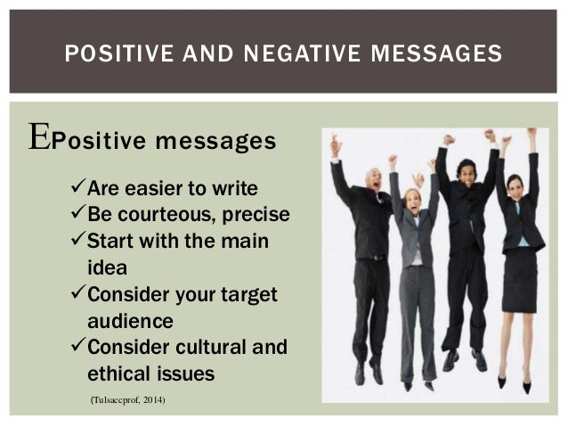 how to write a positive business message