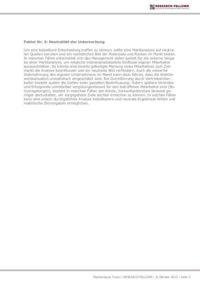 Marktanalyse für Industrieunternehmen Folge 2 Slide 3