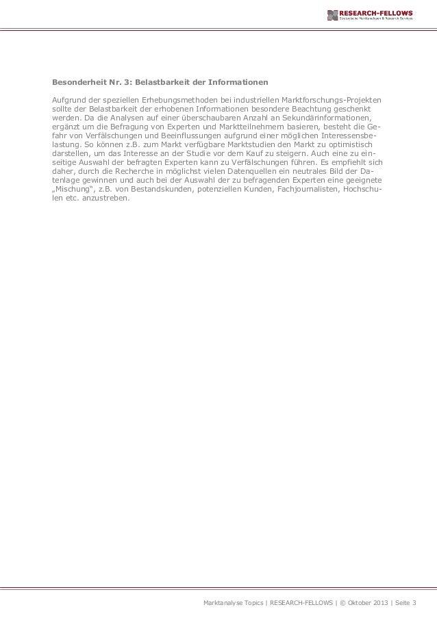 Marktanalyse für Industrieunternehmen Folge 4 Slide 3
