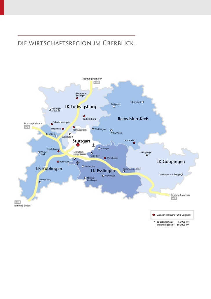 Die Wirtschaftsregion im überblick.          Ditzingen                      Weilimdorf                                   E...