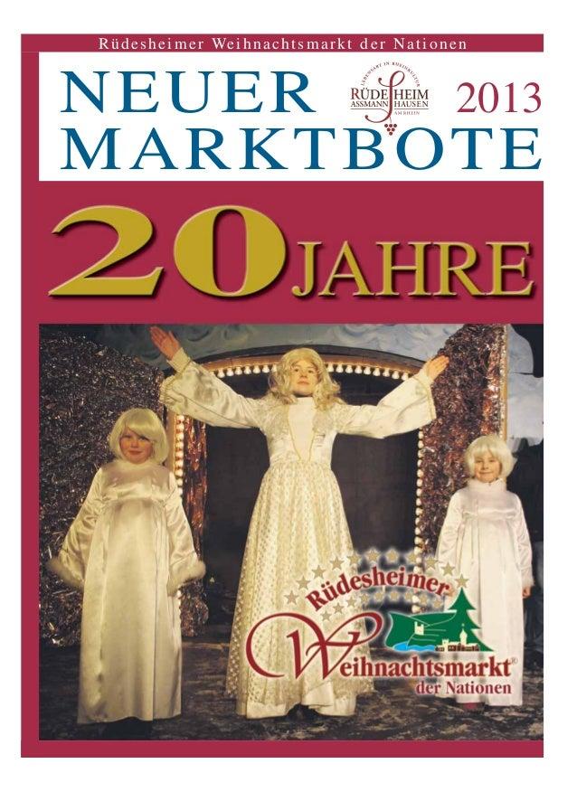 NEUER 2013 MARKTBOTE Rüdesheimer Weihnachtsmarkt der Nationen
