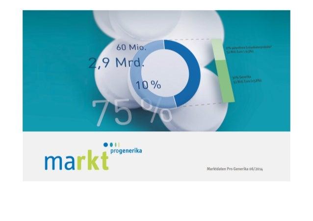 2 MARKT IM ÜBERBLICK Kapitel 1 | Marktdaten von Pro Generika 06/2014