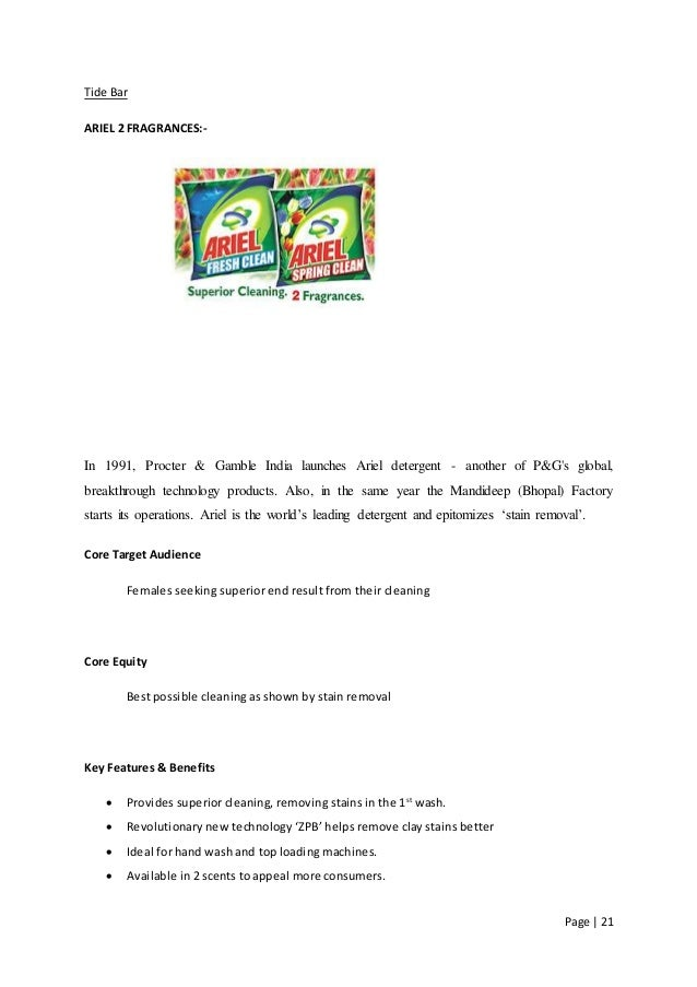 tide detergent core benefits Three ways of viewing brand equity  appropriate brand extensions can enhance the core brand  strong brand equity provides the following benefits.