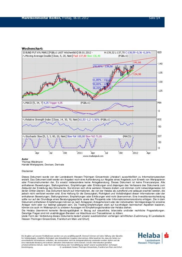 Marktkommentar Renten, Freitag, 06.01.2012                                                                                ...