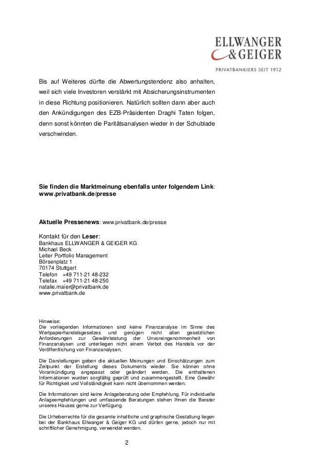 DIE MARKTMEINUNG AUS STUTTGART: Euro-Sklerose Slide 2