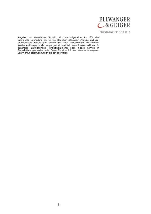 DIE MARKTMEINUNG AUS STUTTGART: Euro-Sklerose Slide 3