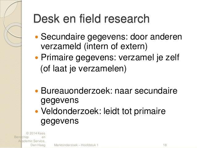 Marktonderzoek 4 les 3 bureauonderzoek