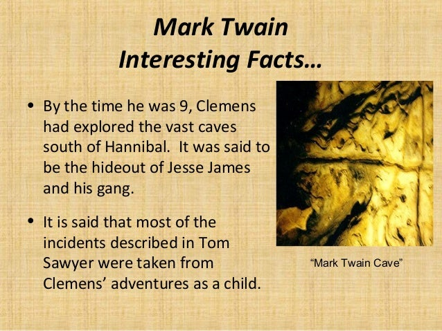 an introduction to the life of mark twain 2 (2013) 131 autobiography of mark twain, vol  a slightly abridged version  was reprinted as introduction to caroline b le row, english as she is taught:.