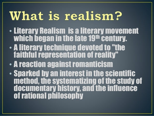 studies for u . s fictional realism and even naturalism essay