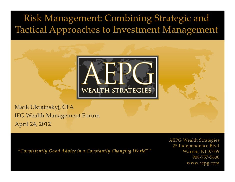 risk management and shareholders wealth Focuses on risk management as a mean to maximise shareholder value, and the second focuses on risk wealth in fact, tufano (1998) points out that hedging can lead to overinvestment if hedging enables managers to take on projects without facing scrutiny from the capital markets, it can enable managers to.