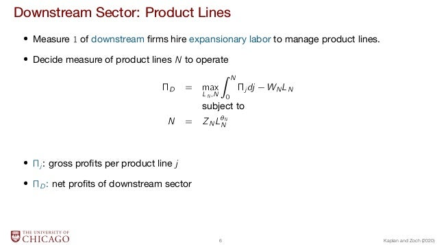 Downstream Sector: Product Lines  Measure 1 of downstream firms hire expansionary labor to manage product lines.  Decide me...
