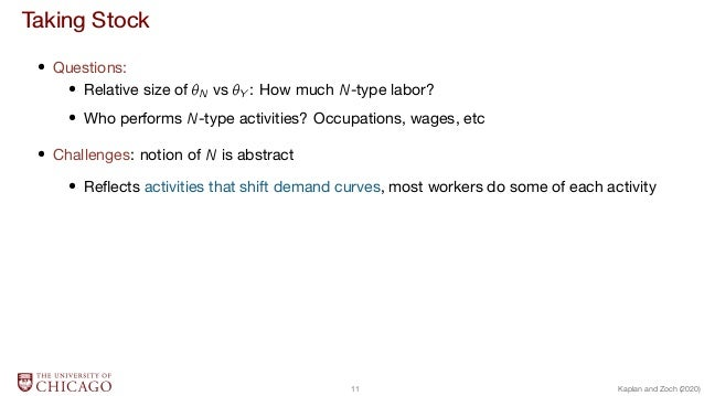 Taking Stock  Questions:  Relative size of N vs Y : How much N-type labor?  Who performs N-type activities? Occupations, w...