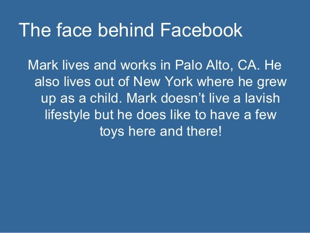 the life and works of mark elliot zuckerberg News about mark zuckerberg commentary and archival information about mark e zuckerberg from the new york times.