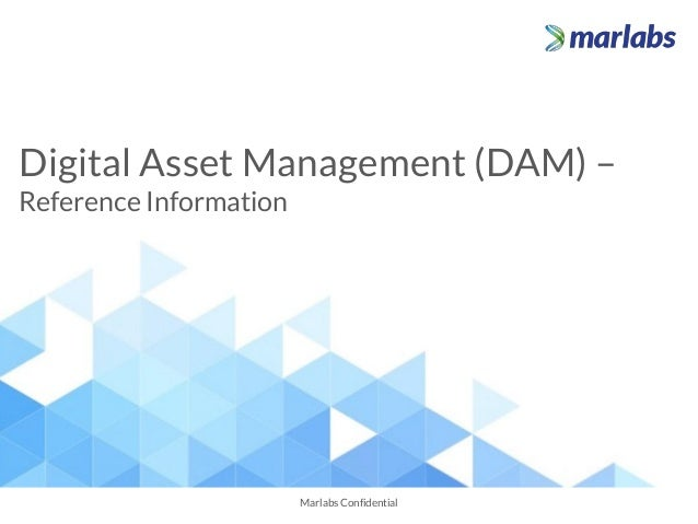 Digital Asset Management (DAM) – Reference Information Marlabs Confidential